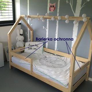 barierka drewniana do łóżka dla dzieci