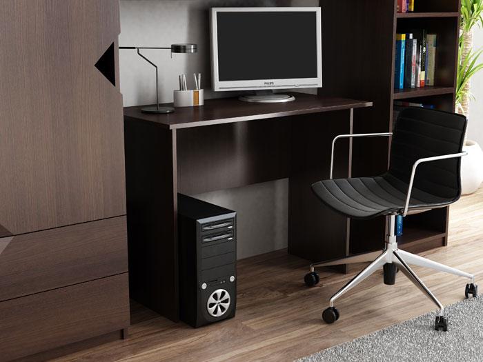 Małe biurko 100x50 cm wenge Adens