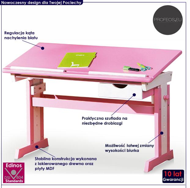 regulowane biurko dla dziecka Exton