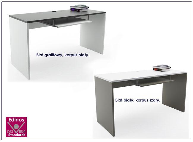 biurko grafitowe białe