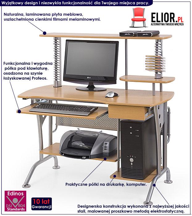 biurko na laptopa z nadstawką Protis