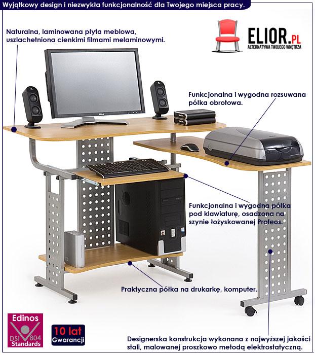 biurko z wysuwaną półką Protis 3X