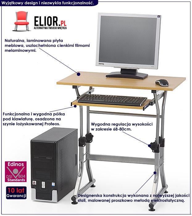 biurko regulowane do komputera Protis 4X