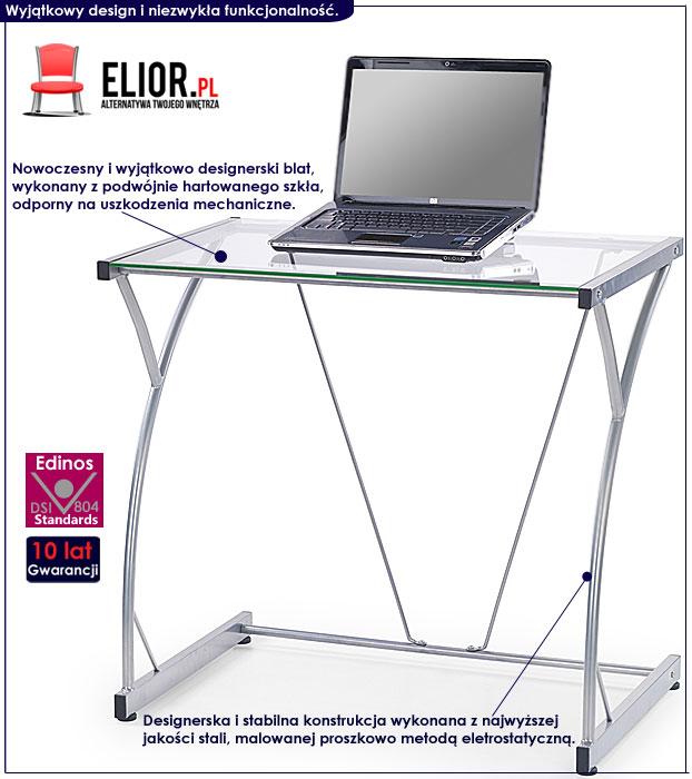 biurko szklane na laptopa Restil 4X