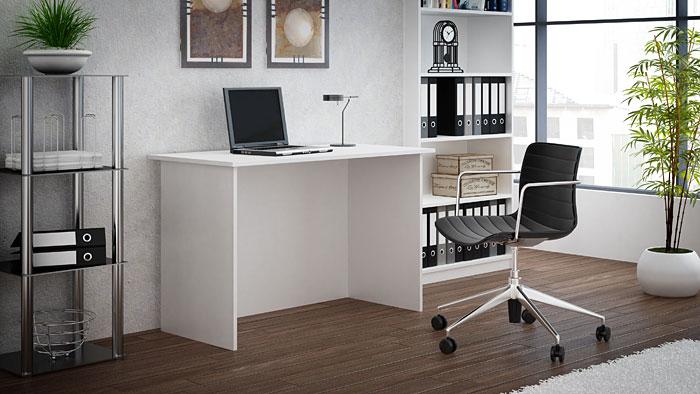 Białe biurko do gabinetu, biura, pracowni Stanis