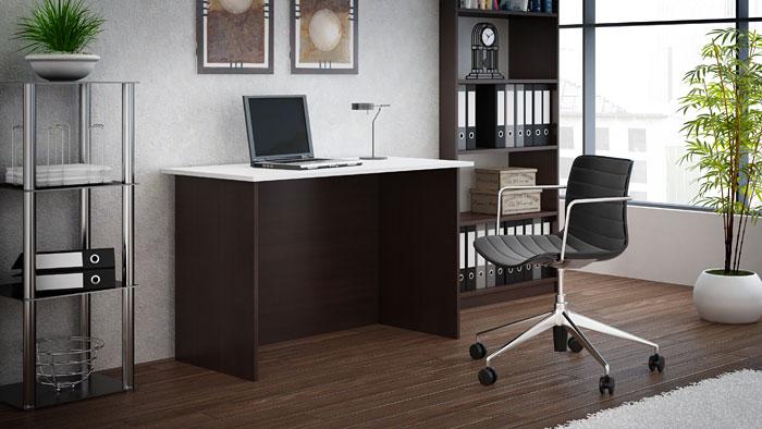 Nowoczesne biurko białe, wenge Stanis