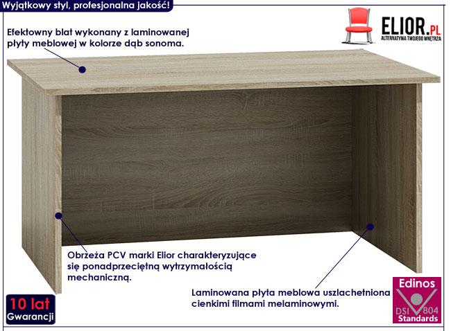 Minimalistyczne biurko dąb sonoma Stanis