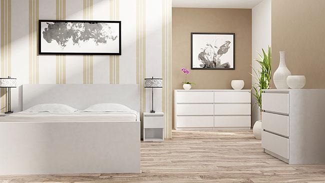 Biała komoda minimalistyczna Eliva