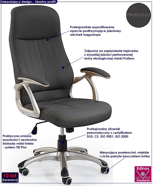 fotel obrotowy do komputera Afiks czarny biurowy