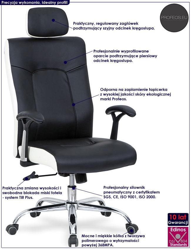 Nowoczesny czarny fotel obrotowy Albis