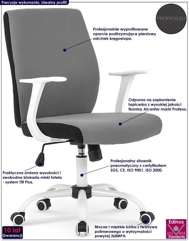 Tapicerowany fotel obrotowy do biura Aldor