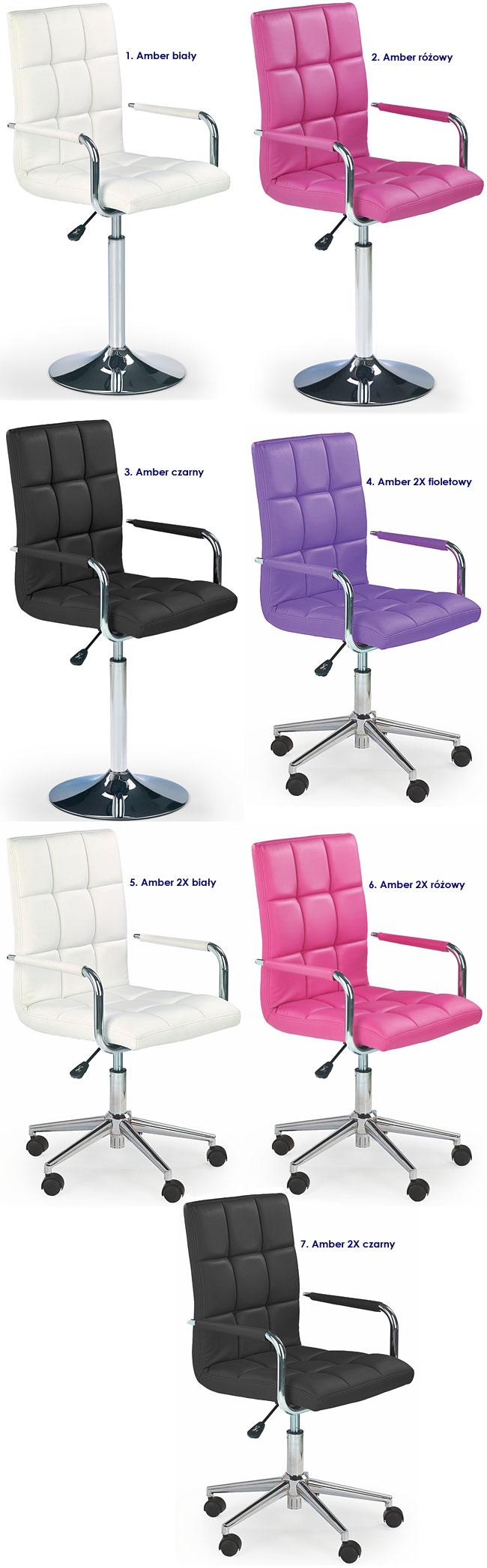 Pikowane krzesło do biurka dla dziecka Amber 2X