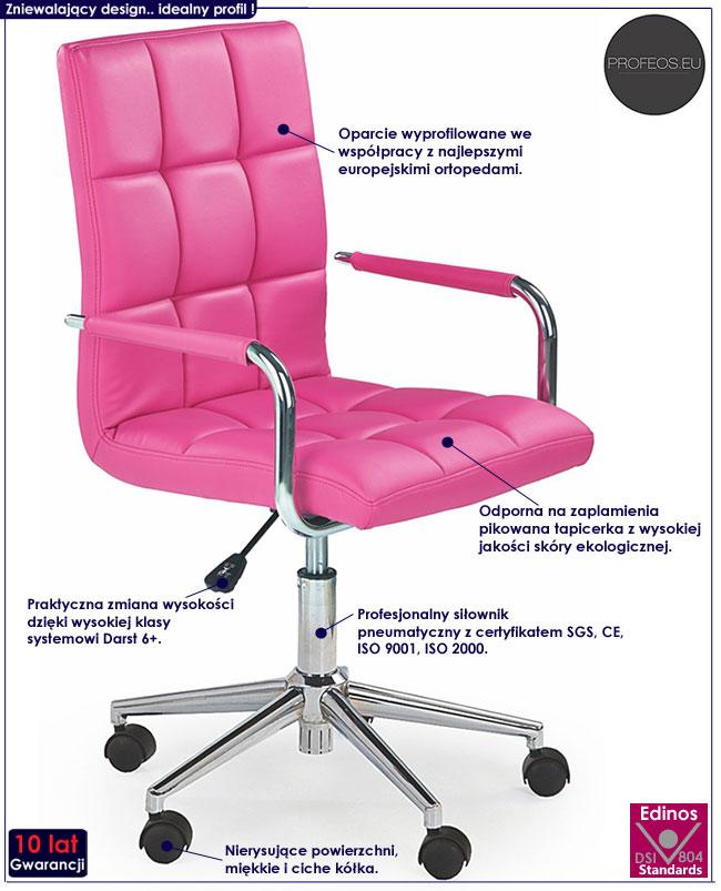 Młodzieżowy fotel do nauki, biurka Amber 2X