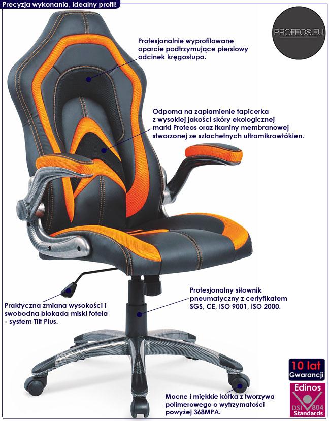 brązowy fotel gabinetowy obrotowy do komputera biurka Antal