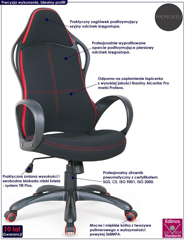 Gamingowe krzesło do komputera Arlen