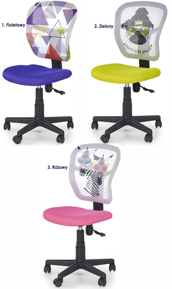 Wentylowane krzesło do biurka dla ucznia Cziko