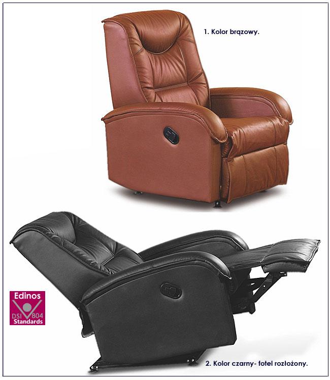 fotel difter brąz