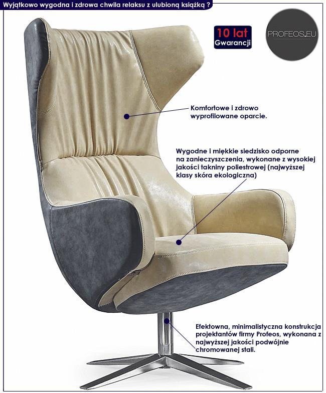nowoczesny fotel wypoczynkowy Eliors
