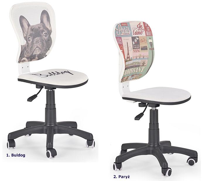 Kolorowe krzesło do biurka dla dziecka Eliot