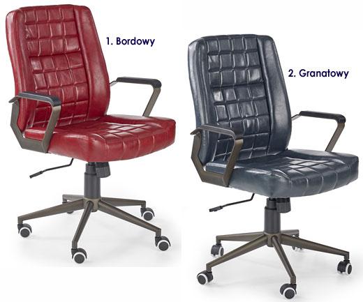 Pikowane krzesło obrotowe do komputera Evans