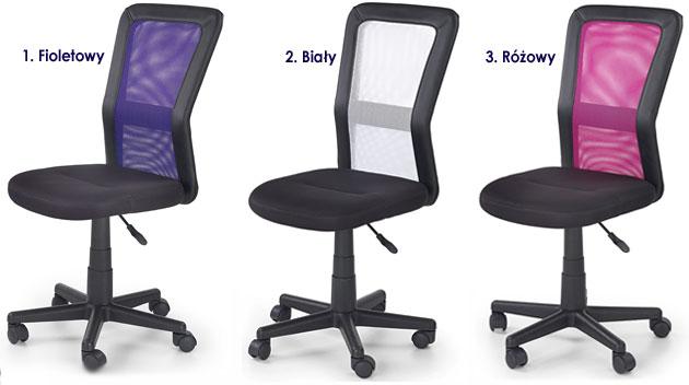 Młodzieżowy fotel obrotowy do biurka, komputera dla ucznia Fargo