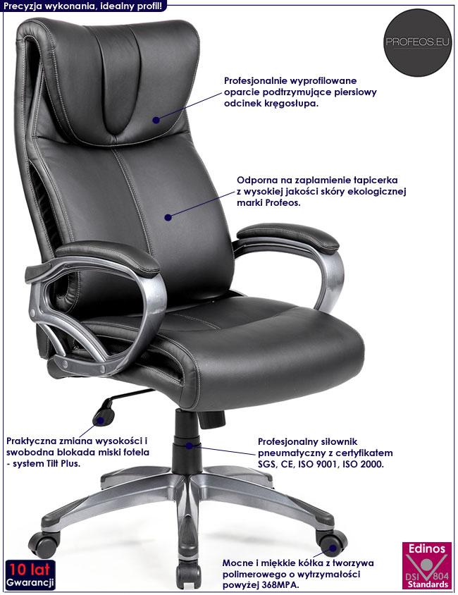 Obrotowe krzesło do gabinetu Fimmel