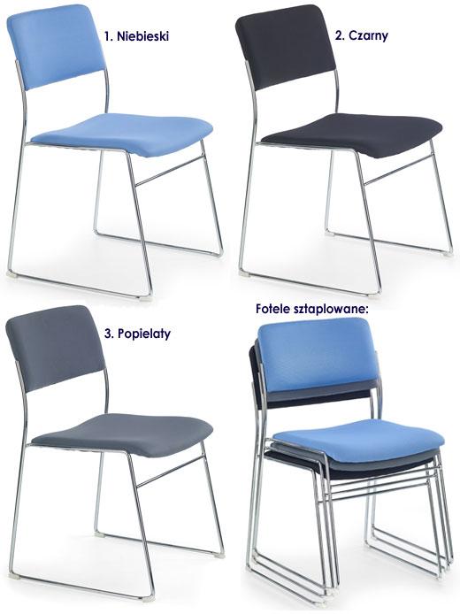 Fotel konferencyjny tapicerowany Holden