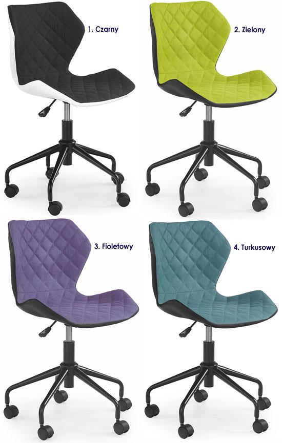 Młodzieżowe krzesło obrotowe, pikowane do biurka Kartex