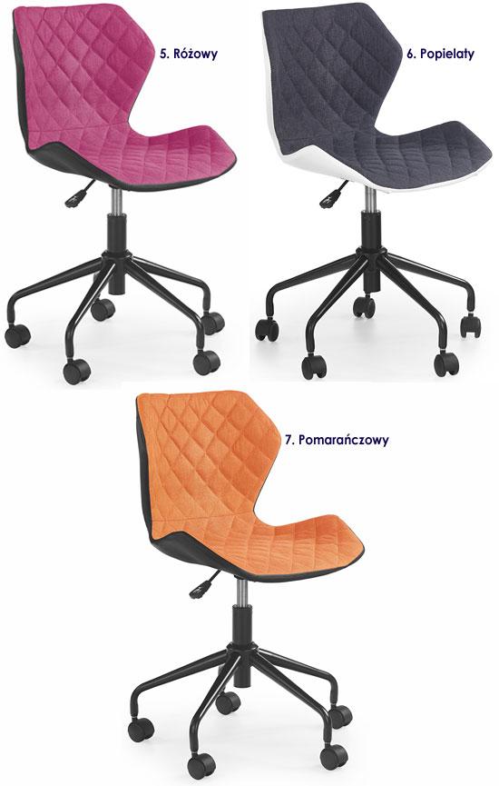Pikowany fotel obrotowy dla dziecka Kartex