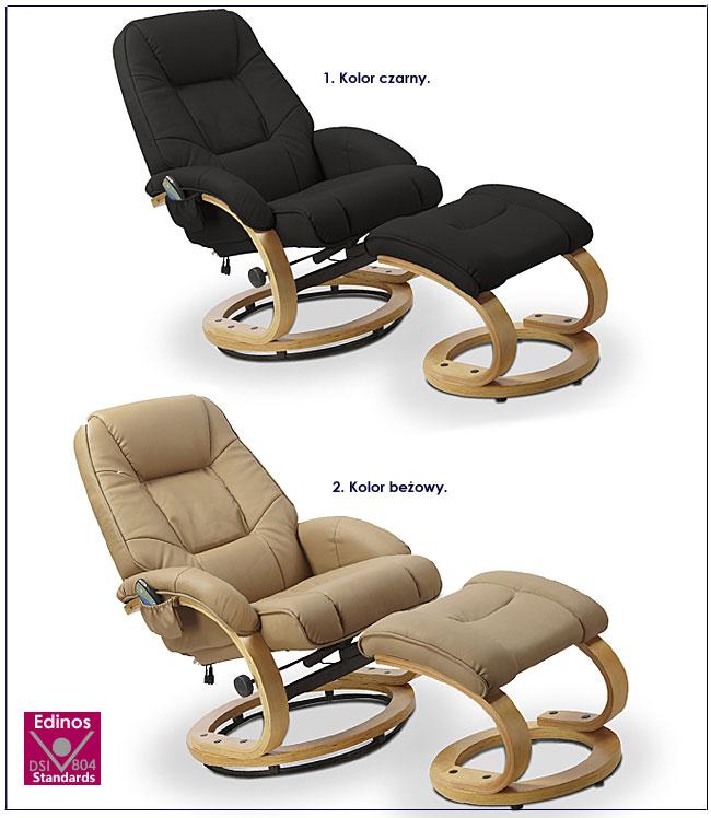 fotel podgrzewany beżowy