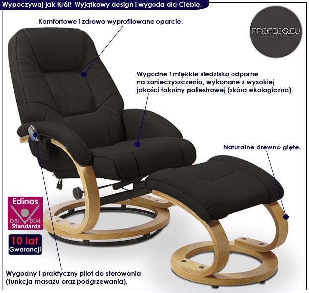 fotel beżowy z masażem