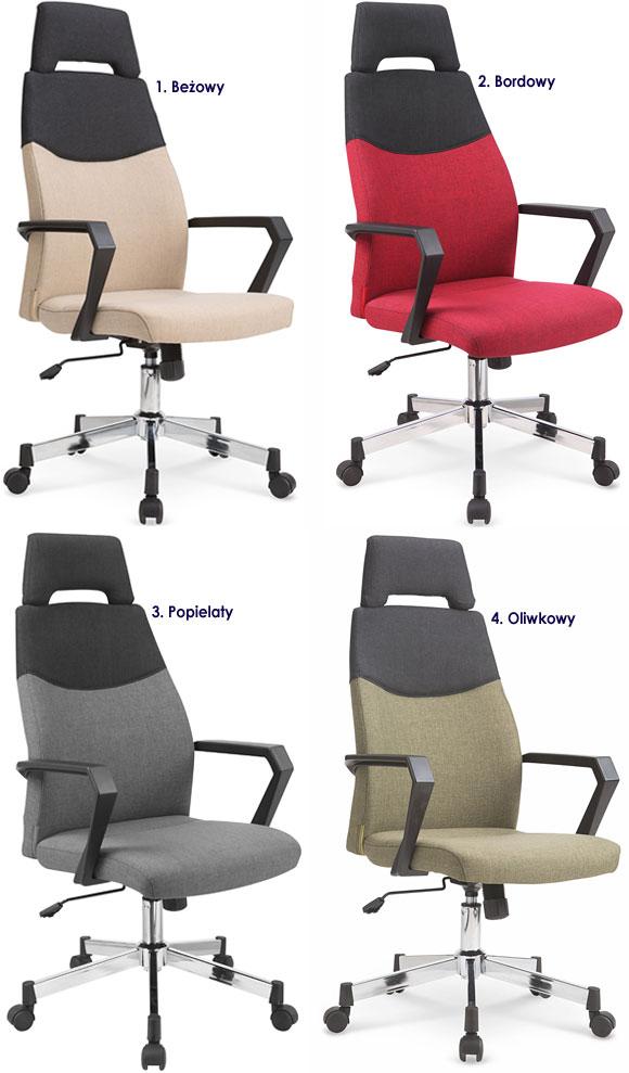 Tapicerowany fotel obrotowy do biurka Kilian