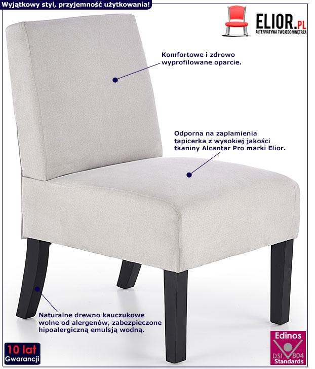 Jasnoszary fotel wypoczynkowy Lavir