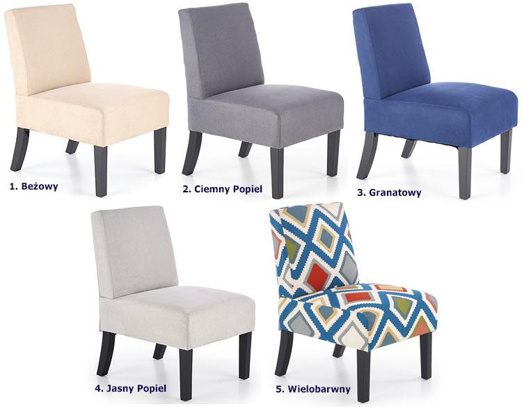 Tapicerowany fotel wypoczynkowy do salonu Lavir