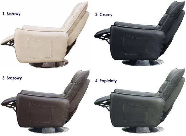 Rozkładany tapicerowany fotel wypoczynkowy Lergo