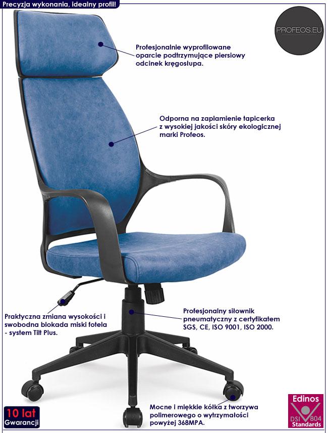 Fotel dyrektorski do biurka Lexor