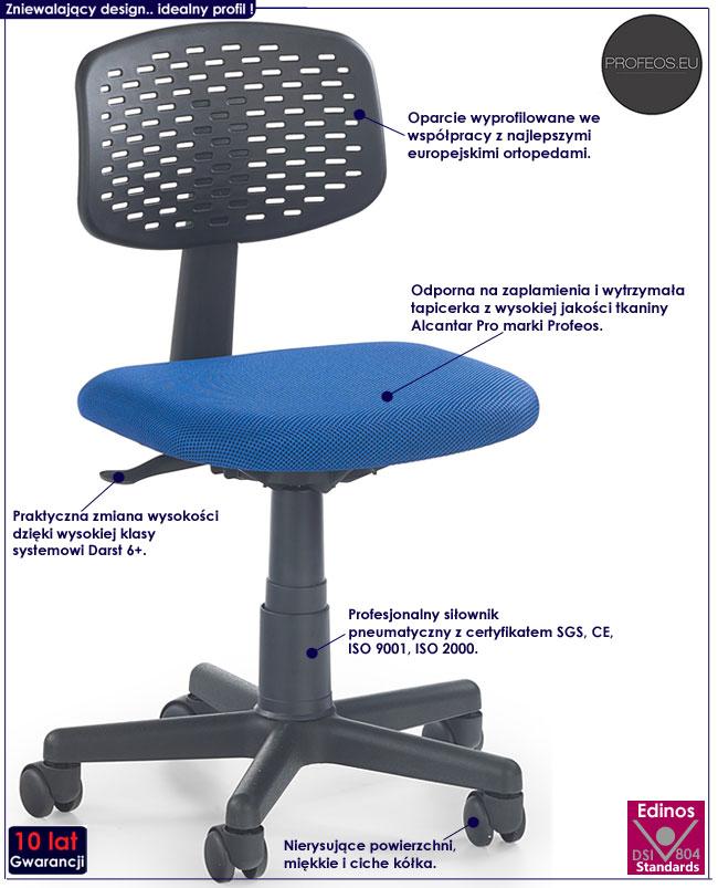 Obrotowy fotel dla dziecka, ucznia Livan