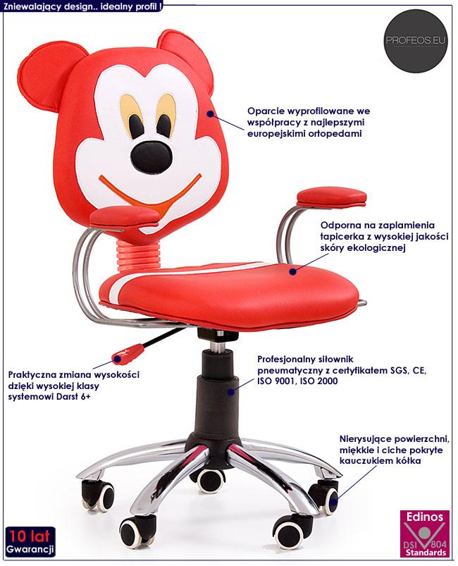 fotel obrotowy dla dziecka Moli