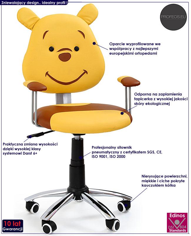 fotel obrotowy dla dziecka Odi