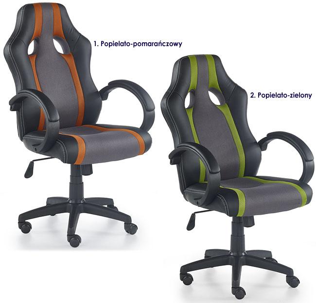 Nowoczesny popielaty fotel biurowy Preton