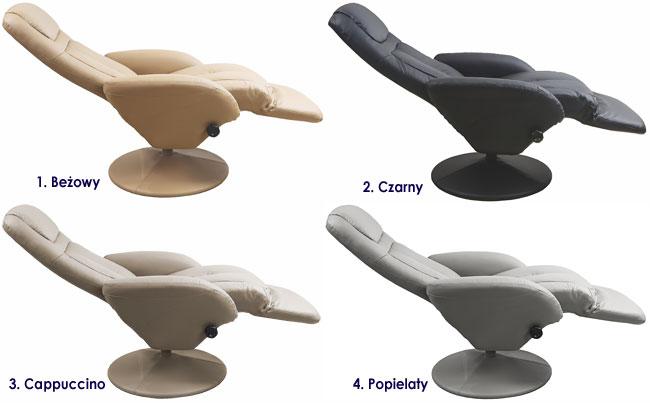 Rozkładany fotel wypoczynkowy z wysuwanym podnóżkiem Timos