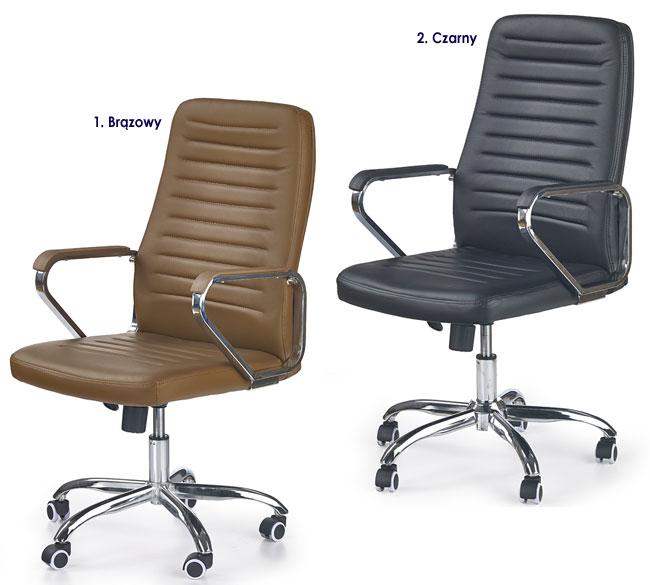 biurowy fotel obrotowy Tomix brązowy, czarny