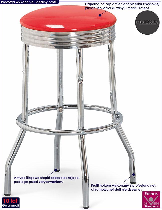 Modny nowoczesny czerwony hoker kuchenny Polux