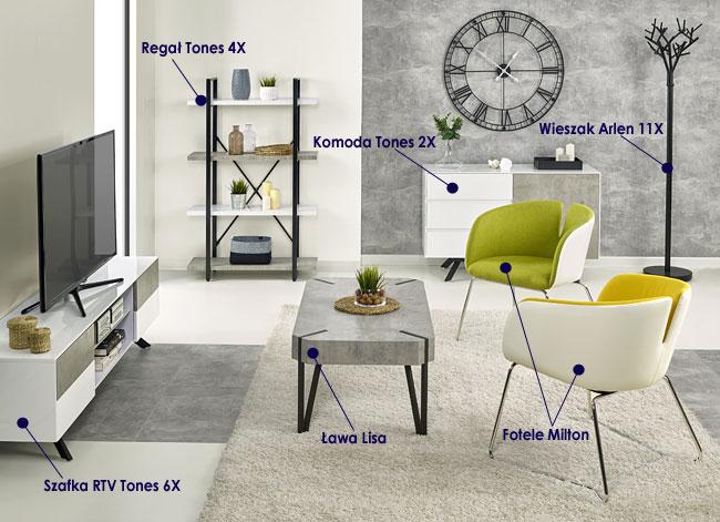 Kolekcja mebli w nowoczesnym, minimalistycznym stylu Tones
