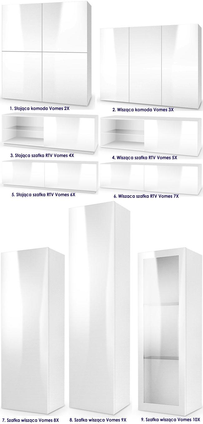 Białe meble w minimalistycznym stylu Vomes