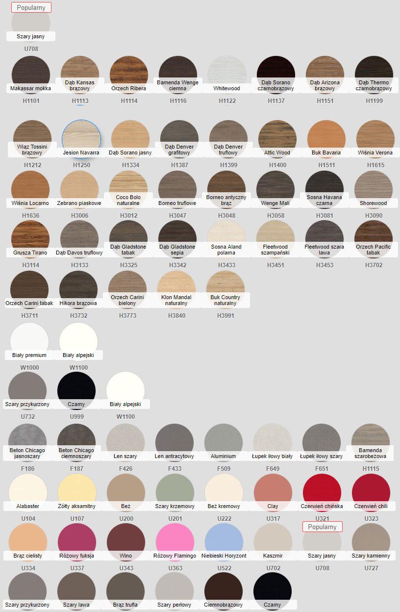 kolory mebli korpis