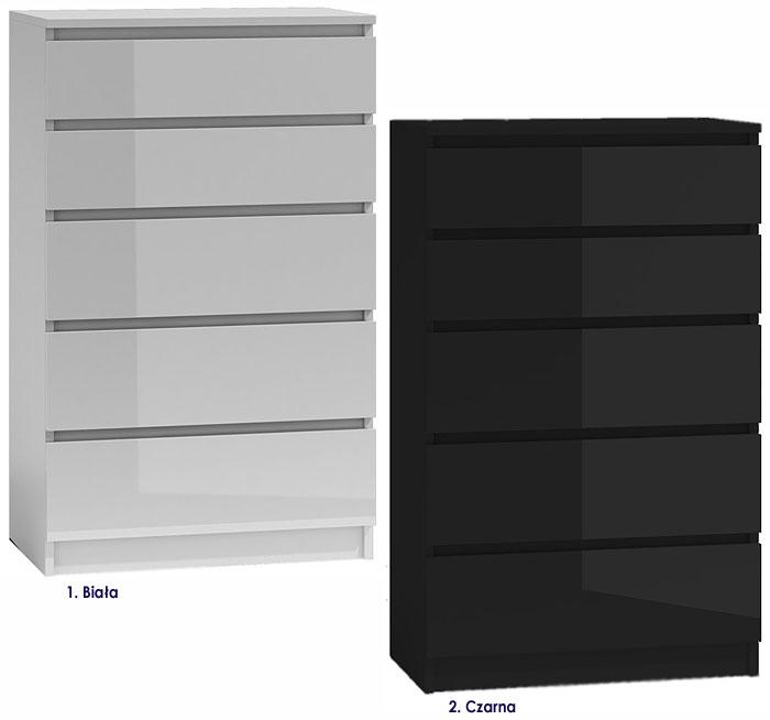 Minimalistyczna komoda lakierowana z 5 szufladami Dalia 2X