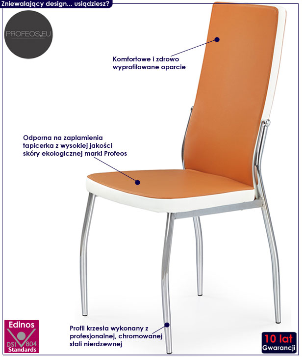 Kuchenne krzesło do stołu, nowoczesne Abrim