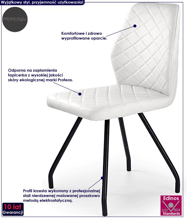 Białe krzesło do kuchni, jadalni, salonu Adeks