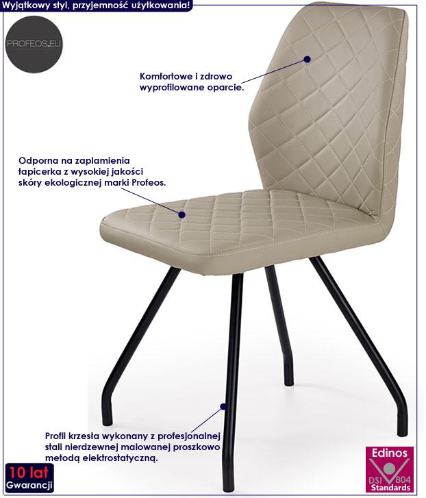 Nowoczesne krzesło beżowe, cappuccino Adeks